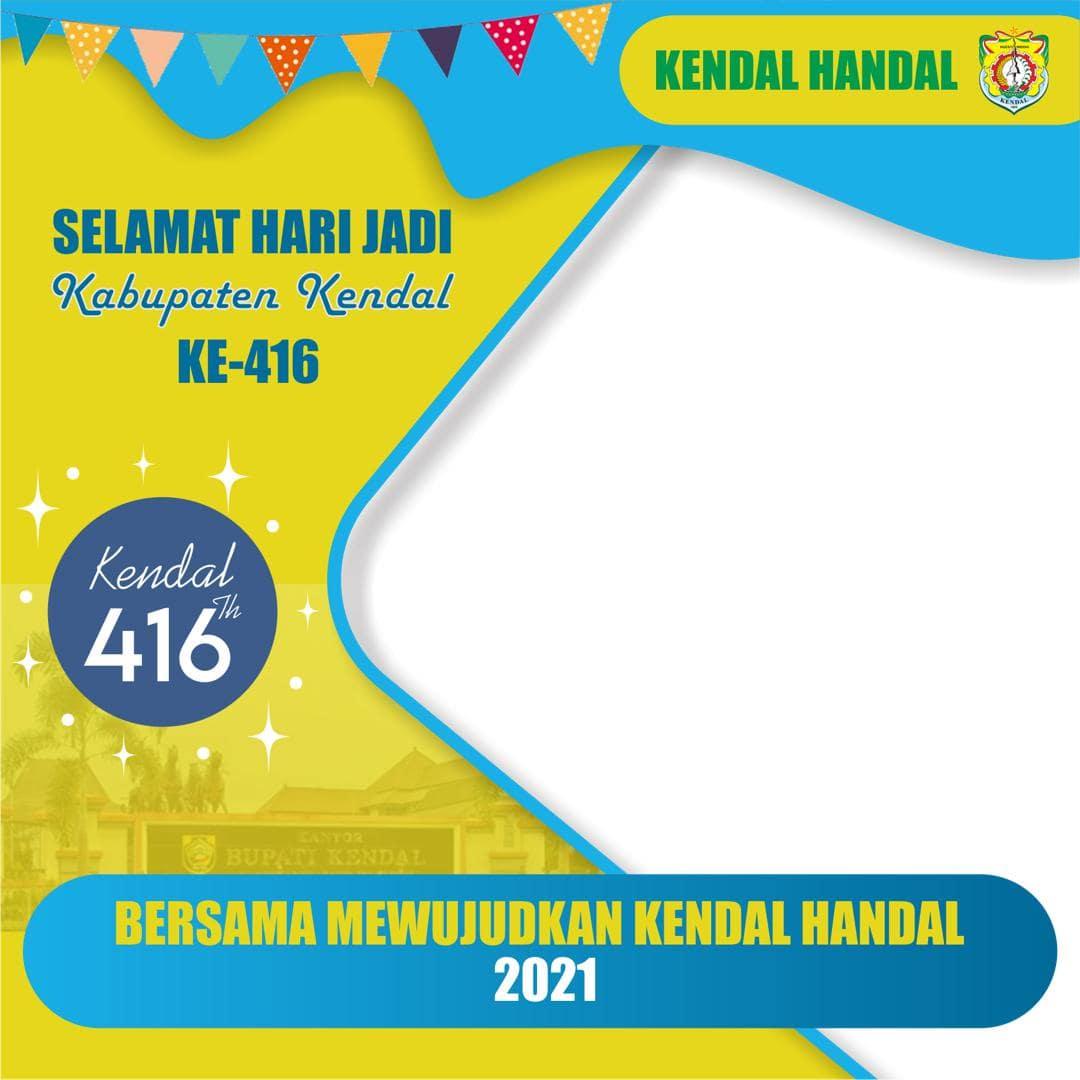 Background Frame Bingkai Twibbon HUT Kabupaten Kendal ke-416 Tahun 2021