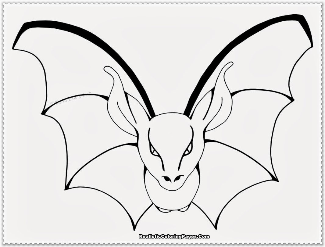 Coloring: Realistic Bat Coloring Pages