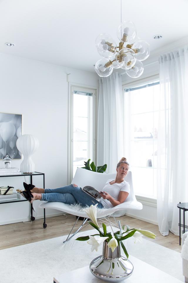 Villa H, interior, sisustus, klassinen koti, oma tyyli, stingray keinutuoli