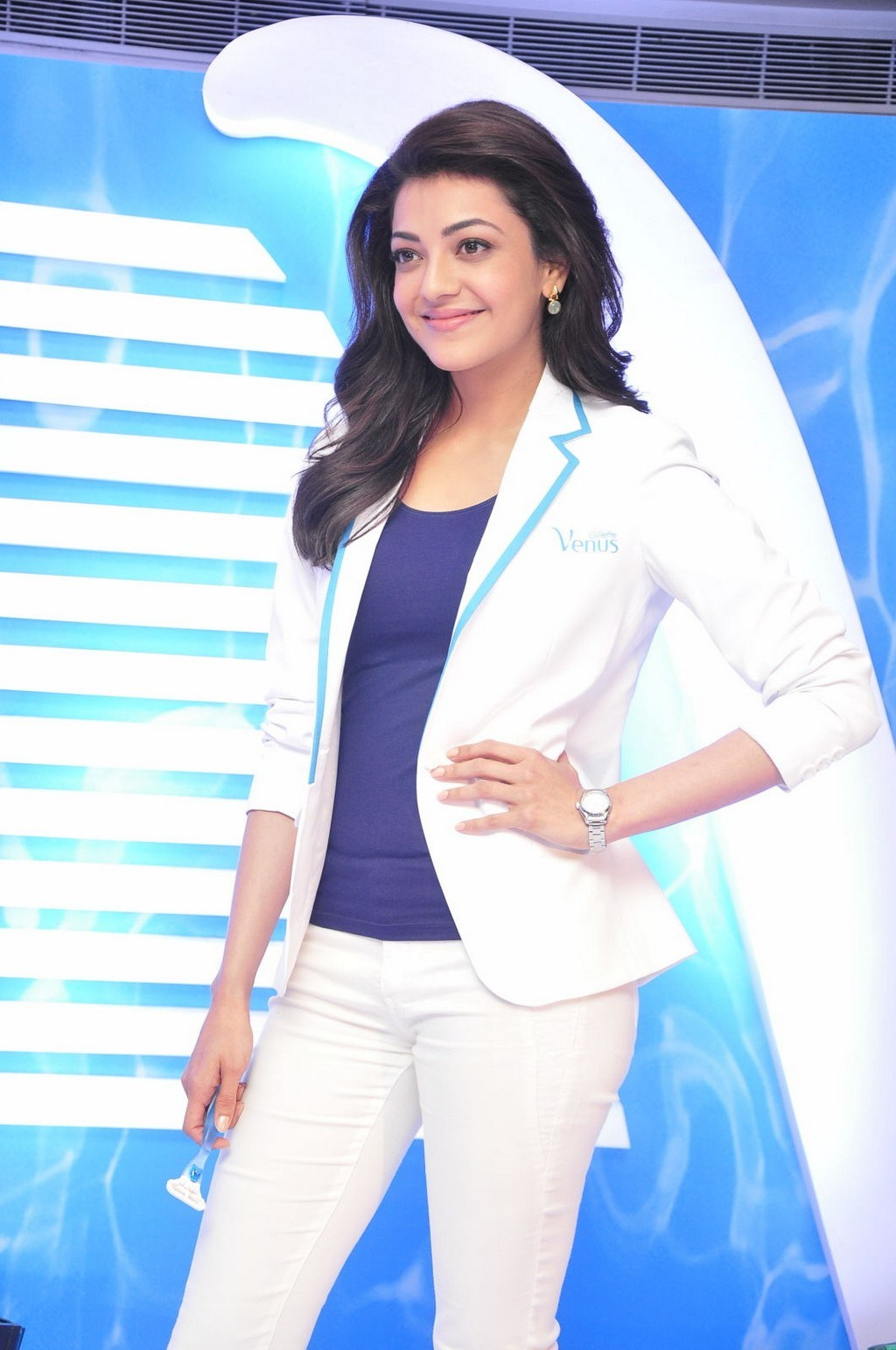 Kajal Aggarwal Latest Photos In Blue Top
