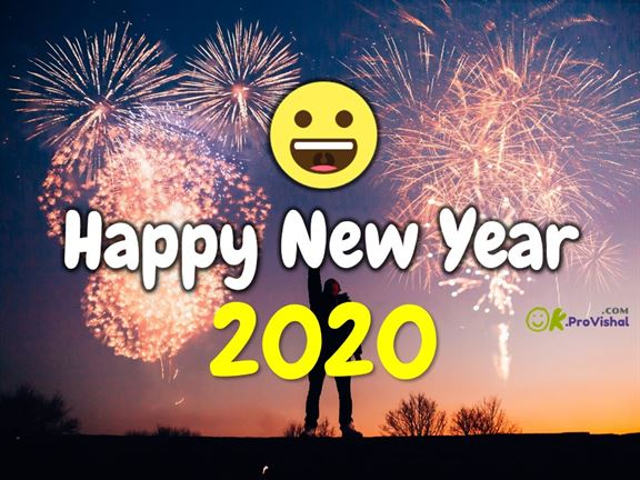Happy New Year 2020 Wishes With Smiley