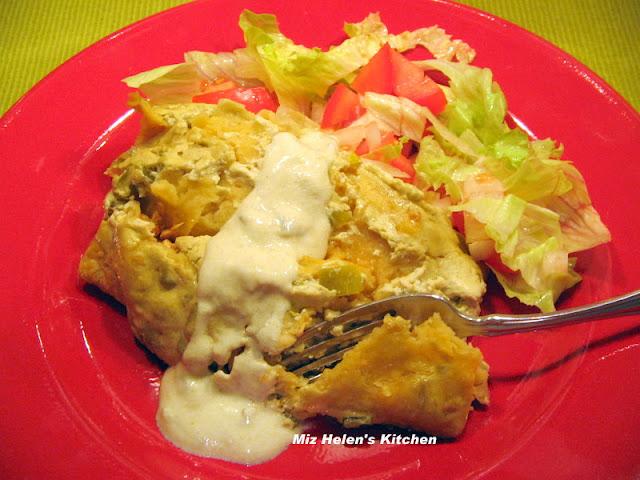 Green Chili Chicken Enchilada's at Miz Helen's Country Cottage