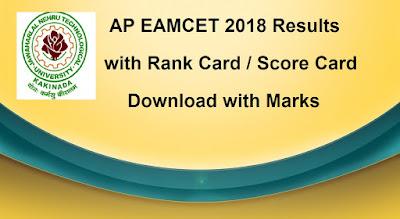 AP EAMCET Results 2018, Manabadi Schools9 Eamcet 2018 Rank Card