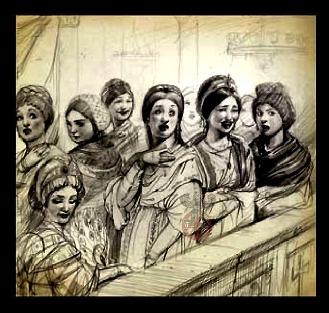 Βίος αξιομνημόνευτων γυναικών την Βυζαντινή εποχή .