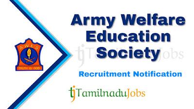AWES recruitment notification 2020, Govt jobs for graduates, govt jobs for teachers, govt jobs for master degree, central govt jobs