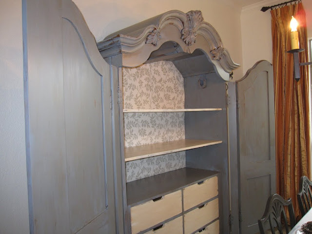 furniture refinishing, country french , shabby chic armoire