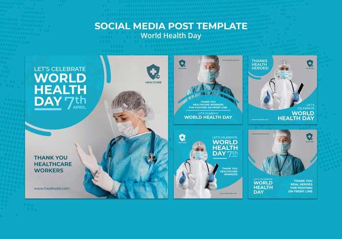 World Health Day PSD Template
