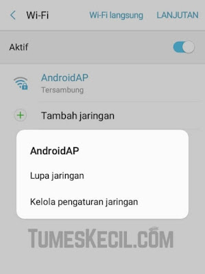cara mengganti alamat ip android manual