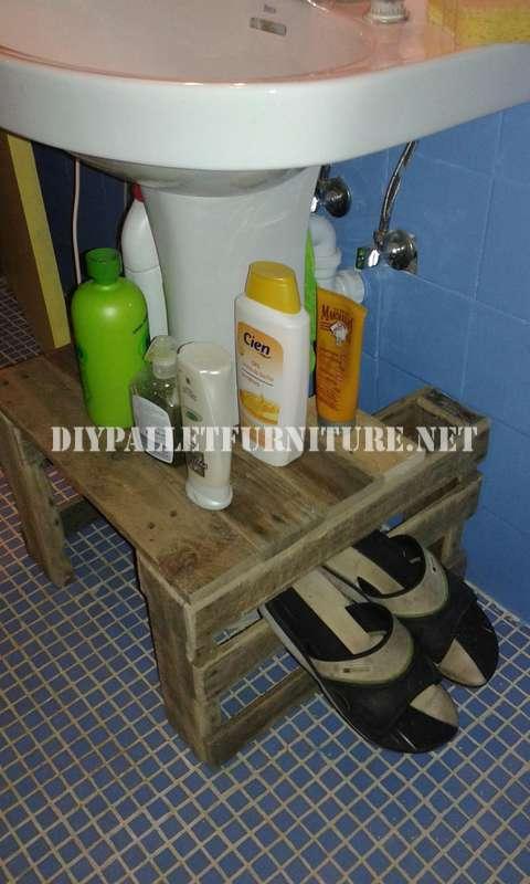 Estanteria Para Baño Con Palets:Mueblesdepaletsnet: Mueble para el lavamanos del baño