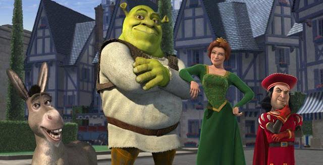 Imagen promocional con los protagonistas de la película Shreck