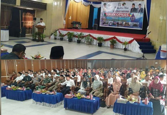 Bupati Adirozal Hadiri Harkopnas ke-72 Tingkat Kabupaten Kerinci