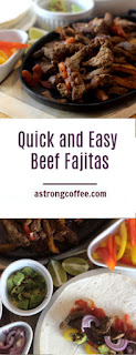 simple beef fajita recipe - cook in under 30 mins