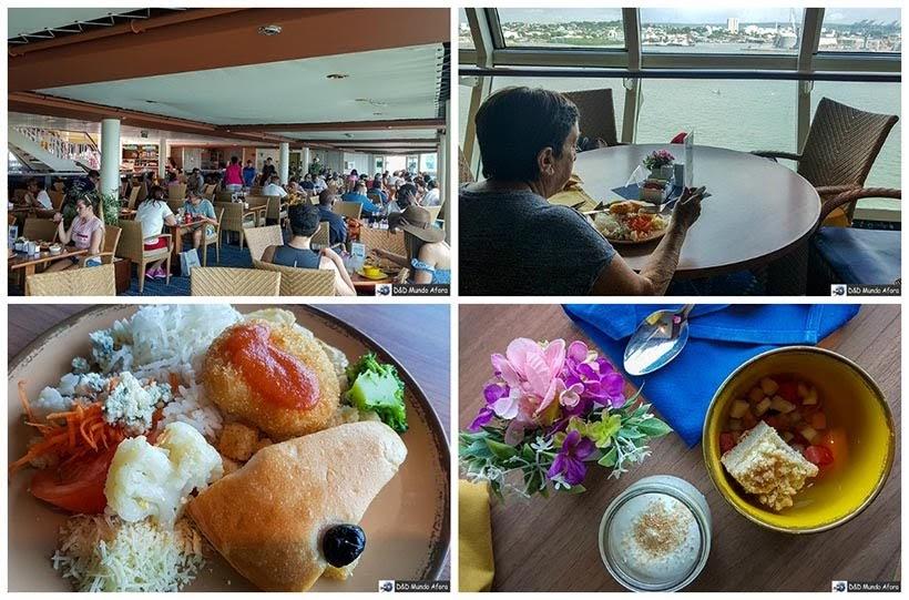 Comidas no navio - Cruzeiros marítimos: tudo sobre viagem de navio