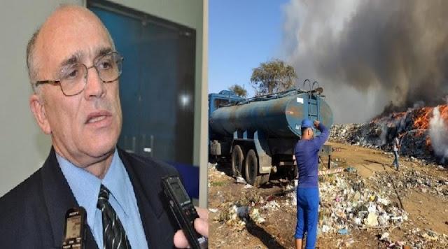 Prefeito Interino Ivanes diz que fogo no lixão pode ter sido criminoso