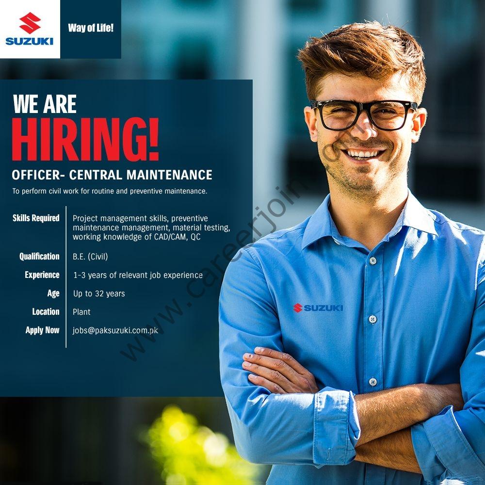 jobs@paksuzuki.com.pk - Pak Suzuki Motor Company Ltd Jobs 2021