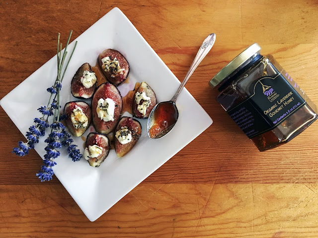 Lavender Honey and Goat Cheese Figs from Pelindaba Lavender