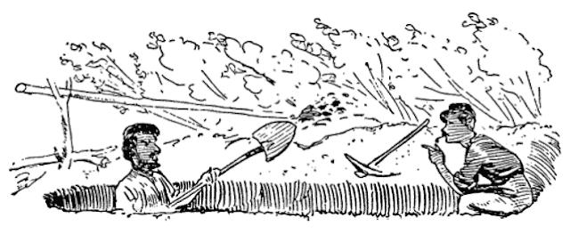 drawing of men digging Civil War latrines from wpclipart.com