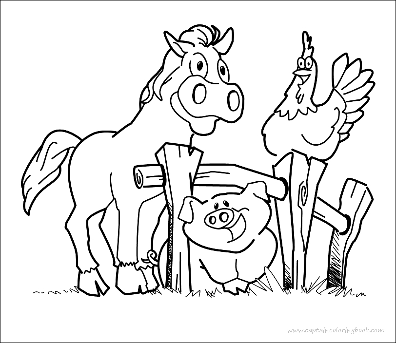 - Coloring Page: Farm Coloring Pages Printable