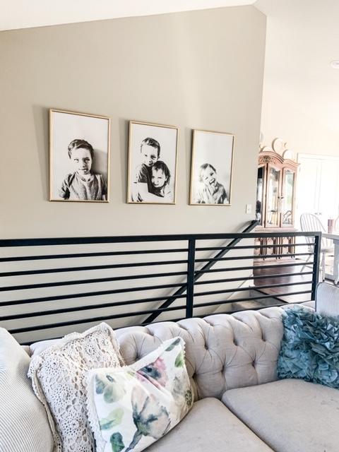 black modern stair railing