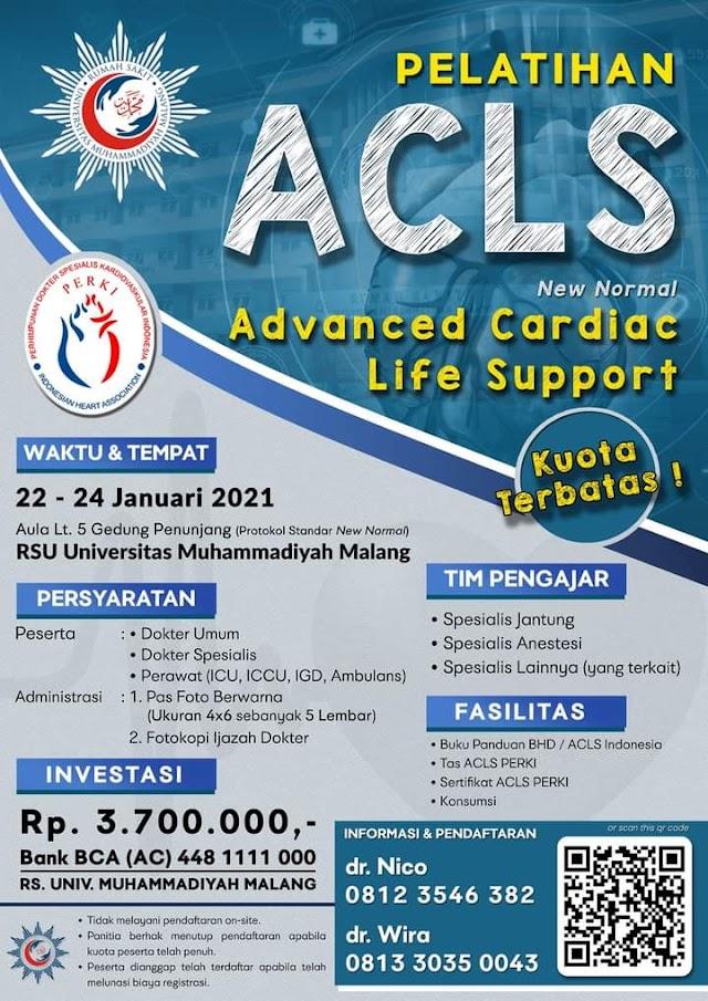 Pelatihan ACLS 2021 RSU Universitas Muhammadiyah Malang dan PERKI