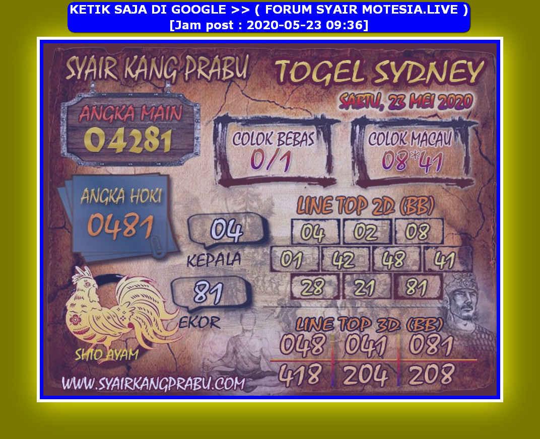 Kode syair Sydney Sabtu 23 Mei 2020 185