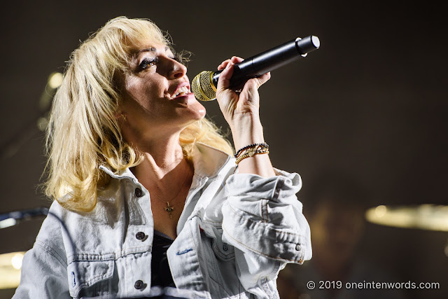 Metric at Budweiser Gardens in London Ontario on April 28, 2019 Photo by John Ordean at One In Ten Words oneintenwords.com toronto indie alternative live music blog concert photography pictures photos nikon d750 camera yyz photographer