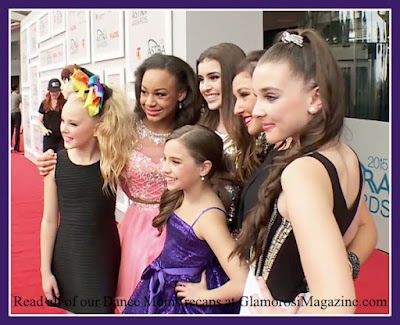 The cast of Dance Moms on the red carpet at the ASTRA Awards in Australia