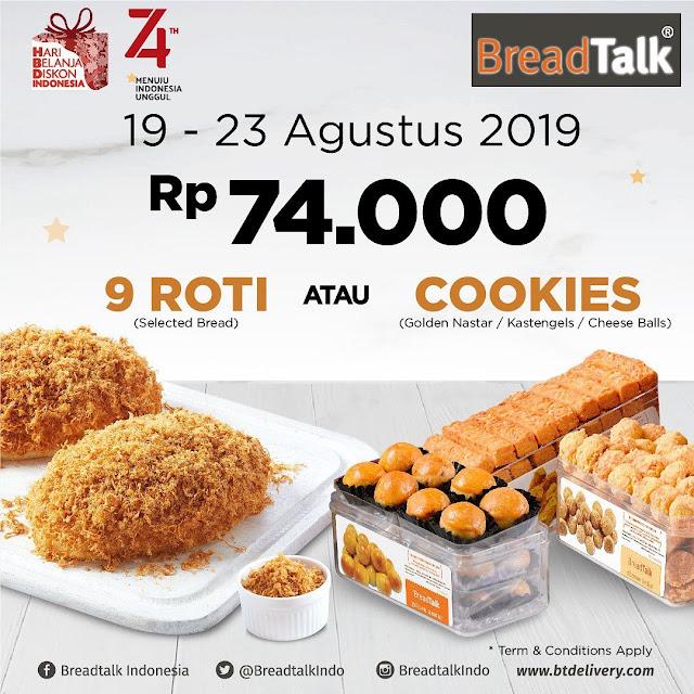 #BreadTalk - #Promo Harga 74K untuk 9 Roti Atau Cookies (19 - 23 Agustus 2019)