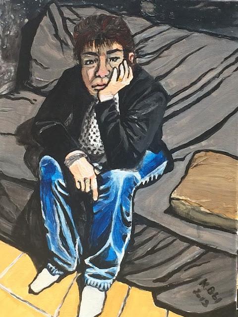 autre autoportrait de Karine Babel peint par Karine Babel
