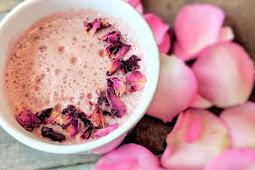 Vanilla Rose Moon Milk #healthydrink #easyrecipe #cocktail #smoothie