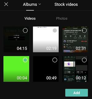 add green screen video