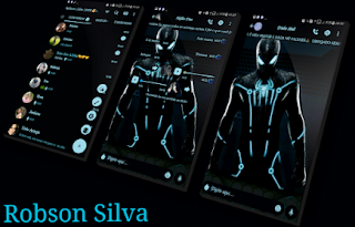 Black Spiderman Theme For YOWhatsApp & GB WhatsApp By Robson