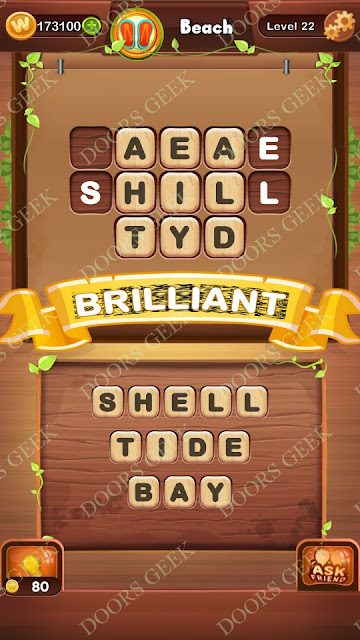 Word Bright Level 22 Answers, Cheats, Solutions, Walkthrough for android, iphone, ipad and ipod
