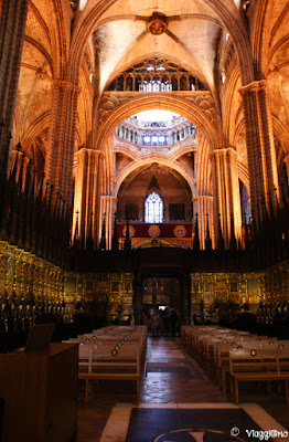Interno della Cattedrale de la Seu del quartiere gotico