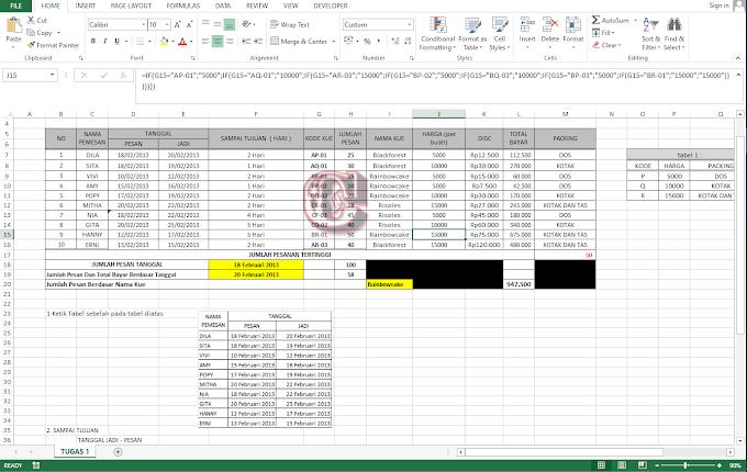 Contoh Soal Excel Akuntansi