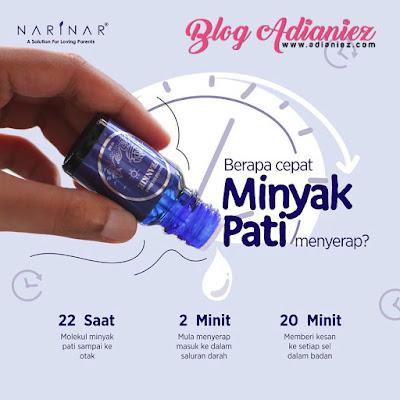 Narinar Aroma Therapy | Berapa Lama Minyak Pati Ni Menyerap?