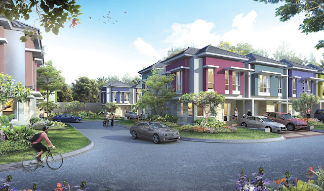 Lingkungan cluster Thomson Summarecon Serpong
