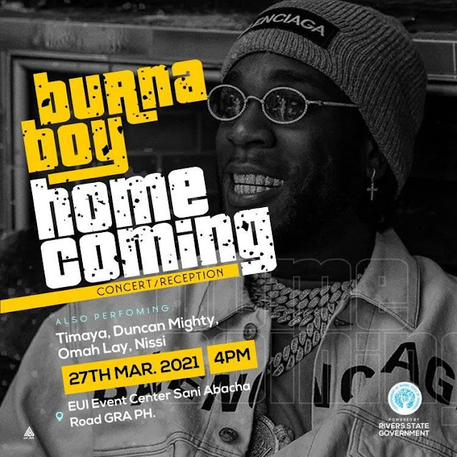 Omah Lay, Nissi, Timaya, Duncan Mighty, and others are bringing their A-game to the Burna Boy's HOMECOMING Concert