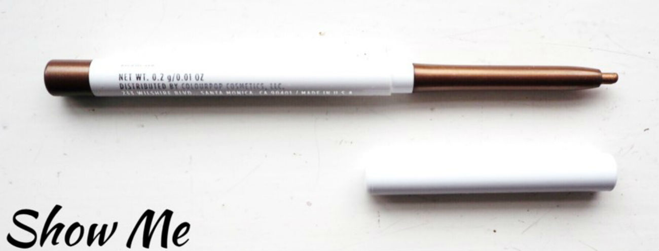Review of Colourpop Creme Gel Liners, Show Me, shade
