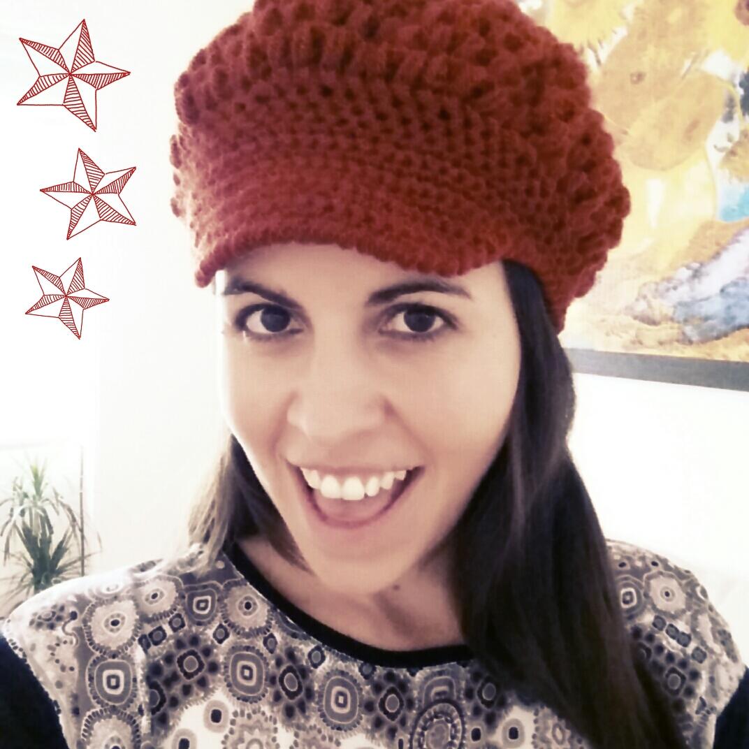 boina con visera a crochet - ahuyama crochet