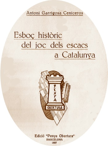 Portada del libro Esboç històric del joc dels escacs a Catalunya