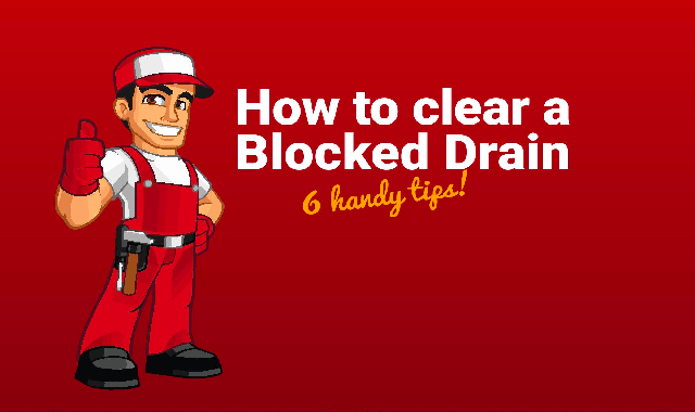 How To Clear a Blocked Drain 6 Handy Tips! #infographic