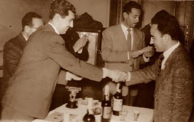 José María Sáenz López, recogiendo su premio