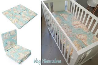 colchoneta mapamundi plegable colchón cuna viaje blog mimuselina viajar con bebés