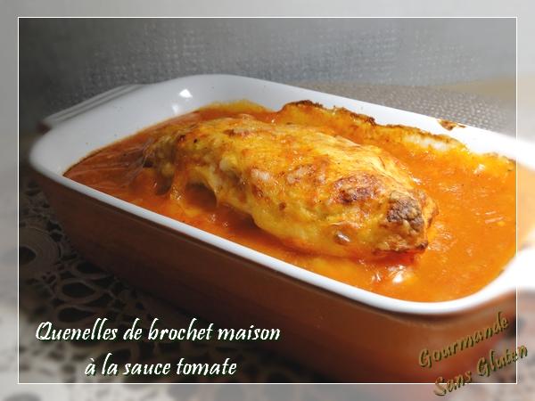 Quenelles de brochet maison à la sauce tomate
