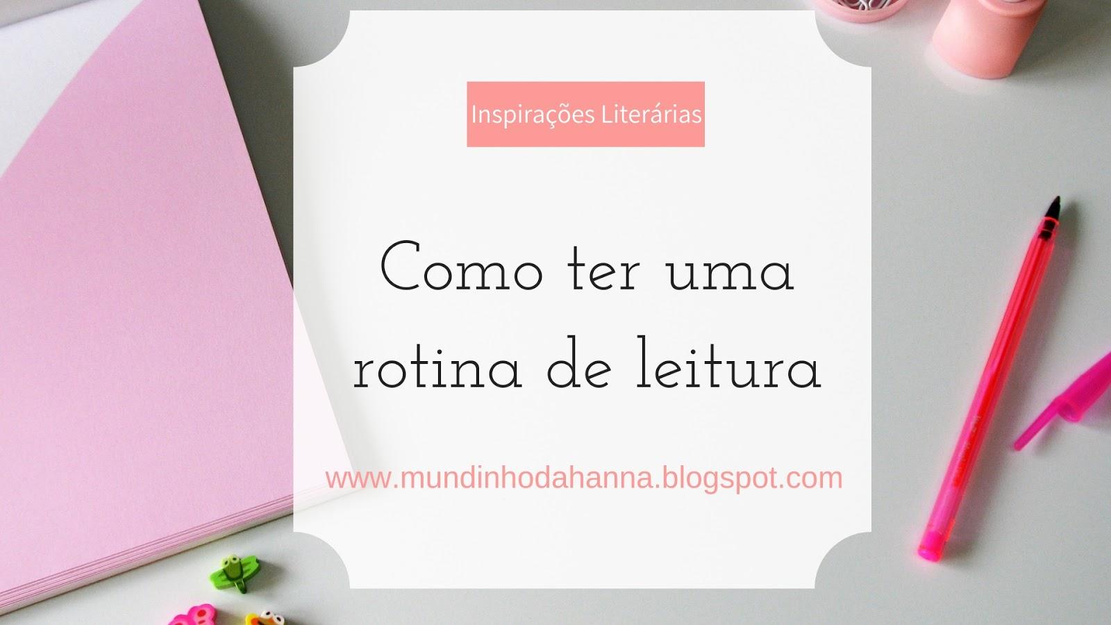 Rotina de leitura