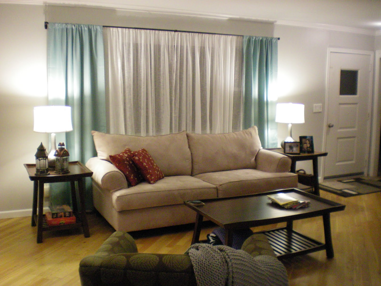 navy sofa beige walls design within reach theatre review grey baci living room