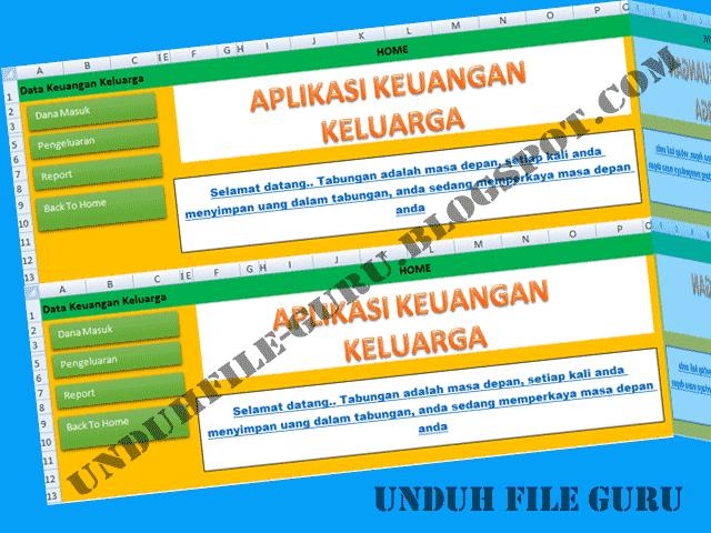 Aplikasi Cetak Keuangan Keluraga Format Excel.Xlsb