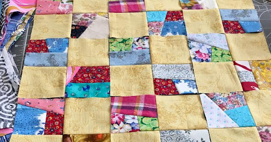 Yellow Crumb Quilt