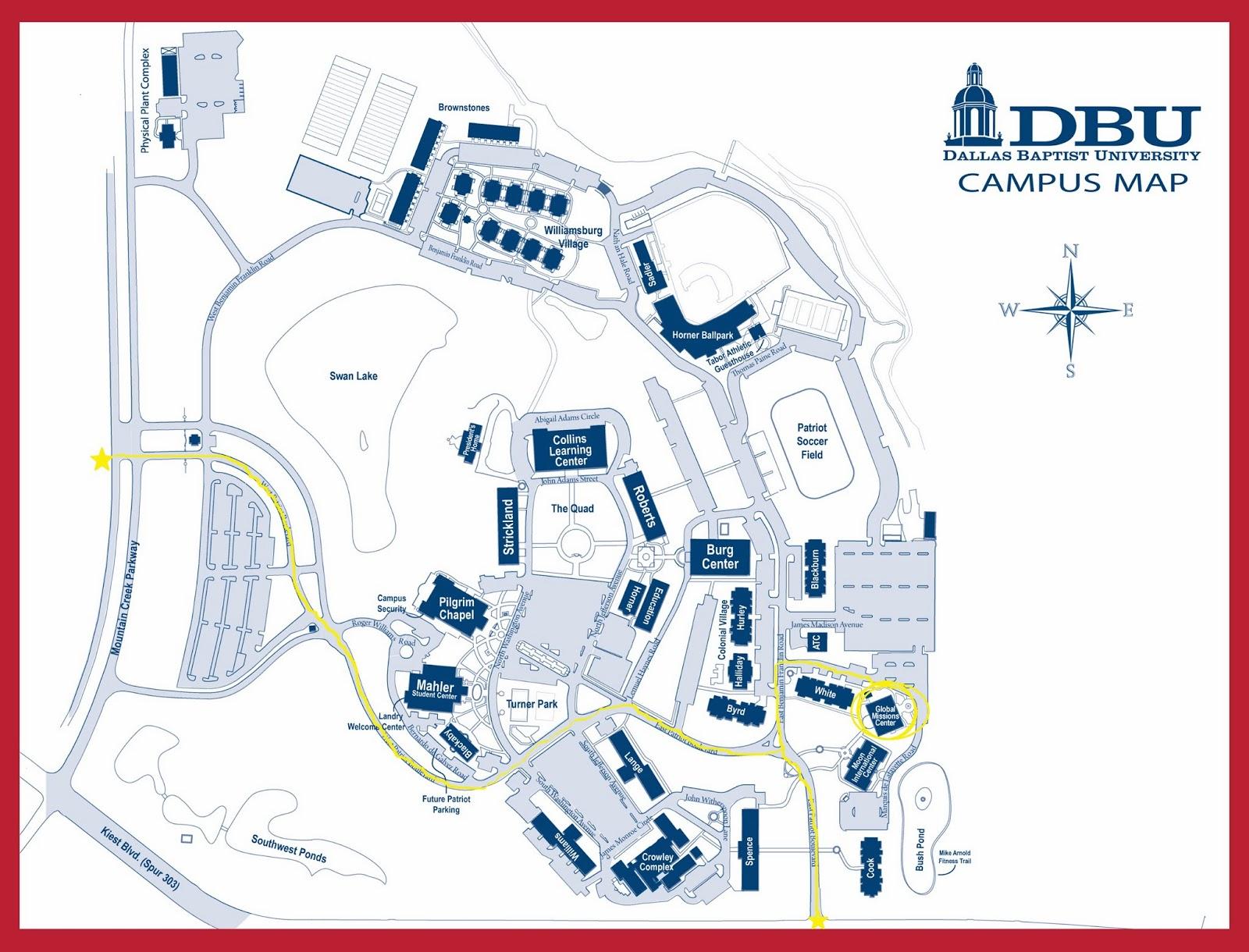 Dbu Campus Map | Quality Map